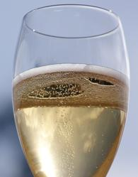 a glass of award winning domaine des dieux claudia champagne